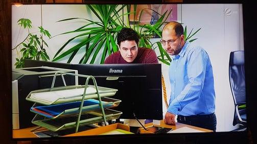 rechts aussen Carlos da Silva, Leiter Hotline/Support und Mitarbeiter Carlos Fehr Hotline/Support