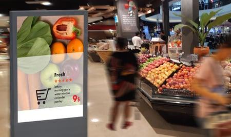 Digital Signage im Einkaufszentrum (Detailhandel)