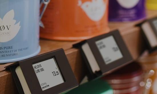 Electronic Shelf Lable (Bilrecht: SES-imagotag)