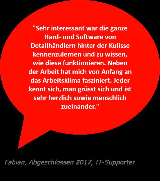 Spruch zur Nexgen von Fabian, IT-Supporter