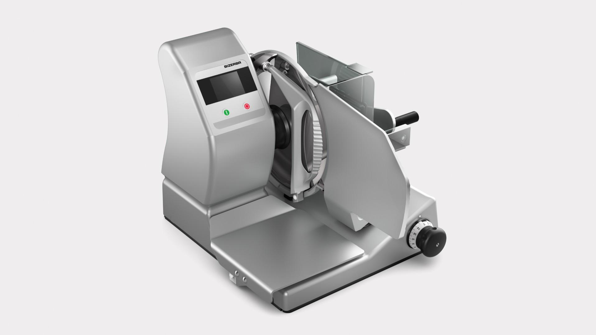 Manuelle Aufschnittmaschine mit Kontrollwaage VS12 W